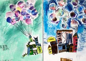 飞屋环游-儿童画基础班-2021年5月5日◆春季班◆新起点画苑-学
