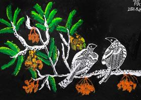 鸟儿-儿童画创想B班-2021年5月4日◆春季班◆新起点画苑-学生作