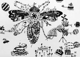 机械蜜蜂创想-儿童画大师班-2021年5月4日◆春季班◆新起点画苑