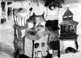 房子-国画基础班-2021年5月30日◆春季班◆新起点画苑-学生作品