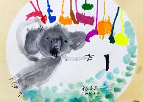 波波熊晾袜子-儿童画启蒙班-2021年6月2日◆春季班◆新起点画苑