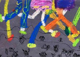 跳皮筋-儿童画启智班-2021年6月4日◆春季班◆新起点画苑-学生