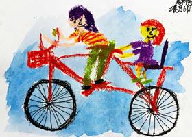 骑自行车兜风-儿童画基础班-2021年6月6日◆春季班◆新起点画苑