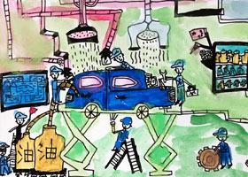 汽车修理厂-儿童画创想A班-2021年6月4日◆春季班◆新起点画苑-