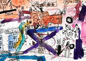 汽车修理厂-儿童画创想B班-2021年6月5日◆春季班◆新起点画苑-