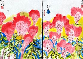 鸡冠花-国画班-2021年7月13日★暑假班★新起点画苑-学生作品
