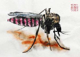蚊子-国画班-2021年7月16日★暑假班★新起点画苑-学生作品