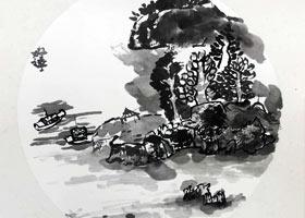风景图-国画基础班-2021年7月6日◆春季班◆新起点画苑-学生作品