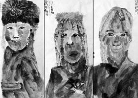 藏族姑娘-国画大师班-2021年7月5日◆春季班◆新起点画苑-学生作品