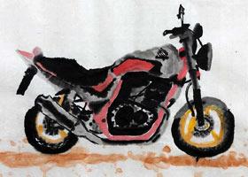 摩托车-国画班-2021年7月19日★暑假班★新起点画苑-学生作品