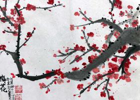 梅花-国画班-2021年7月21日★暑假班★新起点画苑-学生作品