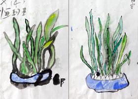 水仙花-国画基础班-2021年9月12日◆秋季班◆新起点画苑-学生作品