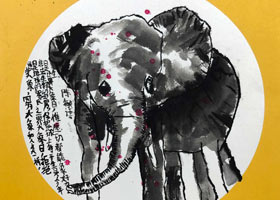 大象-国画培优班-2021年9月12日◆秋季班◆新起点画苑-学生作品