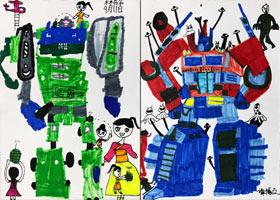 变形金刚-儿童画创想A班-2021年9月11日◆秋季班◆新起点画苑-学生作品