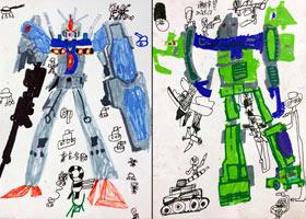 变形金刚-儿童画创想B班-2021年9月12日◆秋季班◆新起点画苑-学生作品