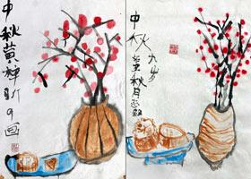 红果-国画基础班-2021年9月19日◆秋季班◆新起点画苑-学生作品