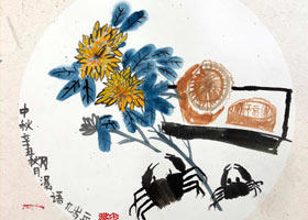 中秋-国画培优班-2021年9月19日◆秋季班◆新起点画苑-学生作品