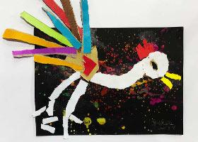 斗鸡-儿童画启蒙班-2021年9月16日◆秋季班◆新起点画苑-学生作
