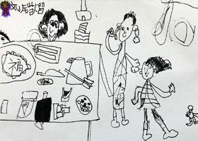 吃月饼-儿童画启智班-2021年9月18日◆秋季班◆新起点画苑-学生