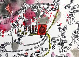 火灾现场-儿童画创想A班-2021年9月20日◆秋季班◆新起点画苑-