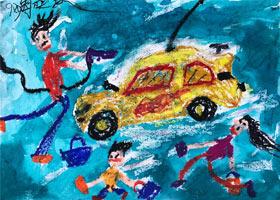 一家人洗车-儿童画基础班-2021年9月25日◆秋季班◆新起点画苑-