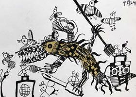 鳄鱼怪-儿童画大师A班-2021年9月24日◆秋季班◆新起点画苑-学