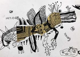 鳄鱼怪-儿童画大师B班-2021年9月25日◆秋季班◆新起点画苑-学
