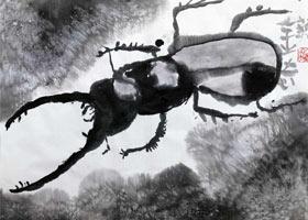 甲虫-国画基础班-2021年10月10日◆秋季班◆新起点画苑-学生作