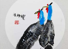 珍珠鸟-国画基础班-2021年10月17日◆秋季班◆新起点画苑-学生