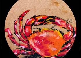 红烧大闸蟹-儿童画大师A班-2021年10月15日◆秋季班◆新起点画