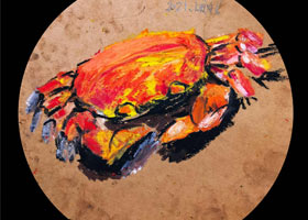红烧大闸蟹-儿童画大师B班-2021年10月16日◆秋季班◆新起点画