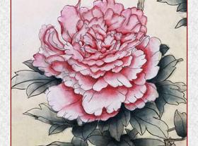 工笔画-牡丹花(龙锦贤)2018年5月31日-6月28日【春季班】学生作品-新起点画苑