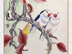 工笔画-喜鹊(龙锦贤)2018年9月6日-10月11日【秋季班】学生作品-新起点画苑