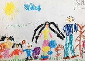 我的一家-儿童画班-2019年1月25日 ◆寒假班/新围店◆ 新起点画苑-学生作品