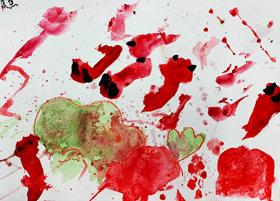 荷塘小鱼-儿童画启智班-2019年2月23日 ★春季班/新围店★ 新起点画苑-学生作品