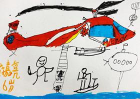直升飞机-儿童画基础班-2019年3月23日 ★春季班/新围店★ 新起点画苑-学生作品