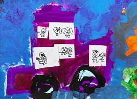 汽车涂鸦-儿童画启智班-2019年3月30日 ★春季班/新围店★ 新起点画苑-学生作品