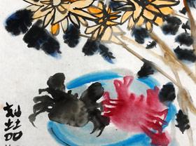 秋蟹-国画班-2019年4月14日 ★春季班/新围店★ 新起点画苑-学生作品