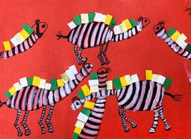 长颈鹿-儿童画基础班-2019年4月14日 ★春季班/新围店★ 新起点画苑-学生作品