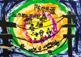 电线杆上的小鸟-儿童画启智A班-2019年4月19日【春季班/高峰店】新起点画苑-学生作品