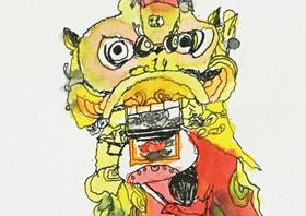 舞狮-儿童画大师班-2019年4月27日【春季班/高峰店】新起点画苑-学生作品