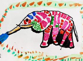 动物的新衣-儿童画基础班-2019年4月27日 ★春季班/新围店★ 新起点画苑-学生作品