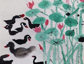 荷塘-国画班-2019年5月4日 ★春季班/新围店★ 新起点画苑-学生作品