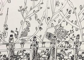 龙华公园写生-儿童画创想B班-2019年5月11日【春季班/高峰店】新起点画苑-学生作品