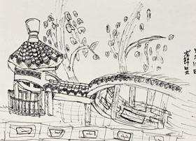 龙华公园写生-主题绘画班-2019年5月11日【春季班/高峰店】新起点画苑-学生作品