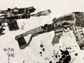 枪-国画培优班-2019年5月18日【春季班/高峰店】新起点画苑-学生作品