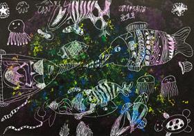 美丽的鱼儿-儿童画创想B班-2019年5月17日【春季班/高峰店】新起点画苑-学生作品