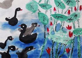 荷塘-国画班-2019年5月19日 ★春季班/新围店★ 新起点画苑-学生作品
