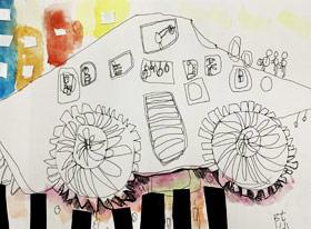 大脚汽车-儿童画基础班-2019年5月18日 ★春季班/新围店★ 新起点画苑-学生作品