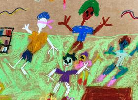 捉迷藏-儿童画启智A班-2019年6月14日【春季班/高峰店】新起点画苑-学生作品